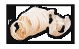 Räucher-Mini Biker mit rotem Motorrad weiß - F070/089/1